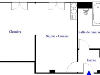 Paris 18 - 2 pièce(s) - 28 m2 - 6ème étage
