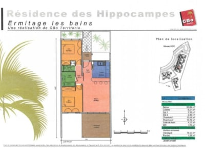 St Gilles Les Bains - 3 pièce(s) - 61.54 m2