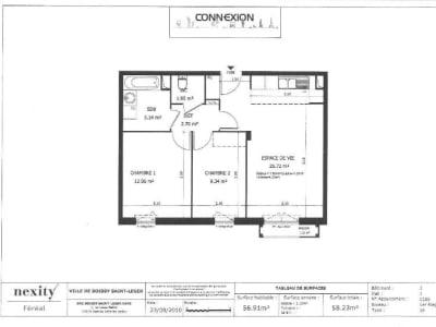Appartement Boissy St Leger - 3 pièce(s) - 56.91 m2