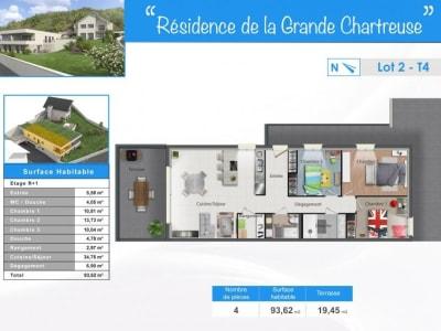 Chambery - 4 pièce(s) - 94 m2