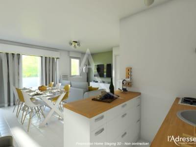 Grand appartement T2 - 49m² + parking en sous-sol