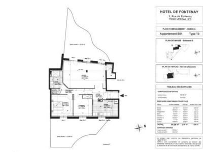 Versailles - 3 pièce(s) - 83.99 m2