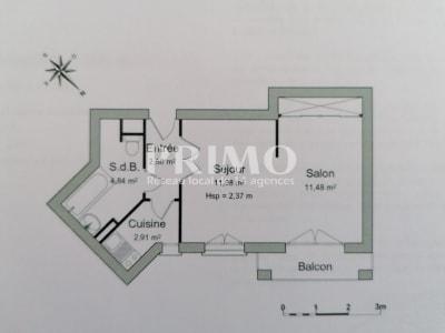 Appartement Antony 1 pièce  32.81 m2