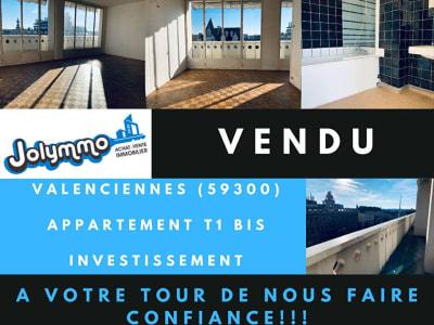 VALENCIENNES - PLACE D'ARMES - APPT TYPE 2 AVEC CAVE  ET BALCON