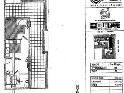 Appartement récent Dijon - 2 pièce(s) - 38.2 m2