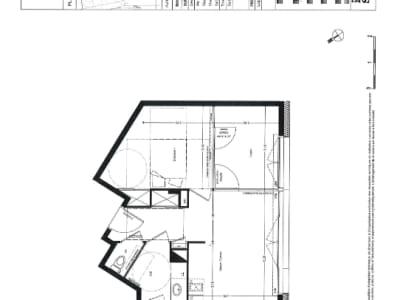 Appartement Nantes 2 pièce(s) 40.5 m2