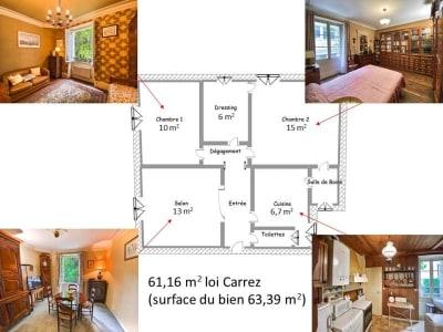 Paris - 3 pièce(s) - 61 m2 - 1er étage