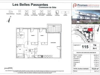 Sete - 4 pièce(s) - 75 m2
