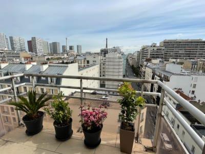 Appartement 3P étage élevé, vue Tour Eiffel, balcons