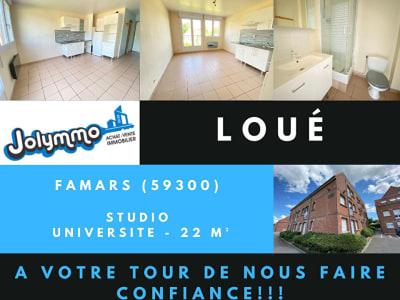 Studio Résidence 7 Muids - Campus du Mont Houy - 21 m²