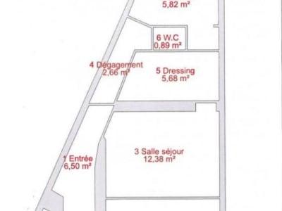 Paris - 2 pièce(s) - 47.67 m2 - 1er étage