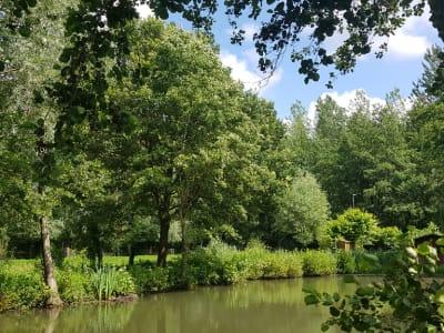 Terrain d'agrément avec étang