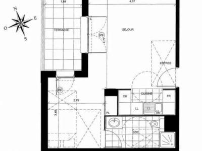 Palaiseau - 2 pièce(s) - 39.44 m2