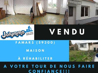 FAMARS - Maison à rénover - 60m2- 2 chambres avec jardin attenan