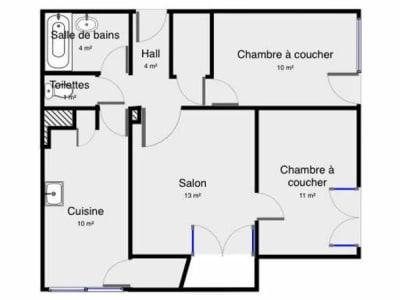 Palaiseau - 3 pièce(s) - 57.35 m2