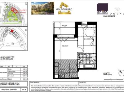 Appartement Echirolles - 2 pièce(s) - 40.71 m2