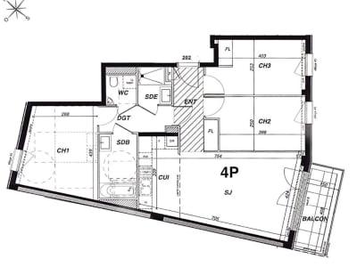 Appartement NEUF  4 pièces 3 CH + Balcon + Parking inclus
