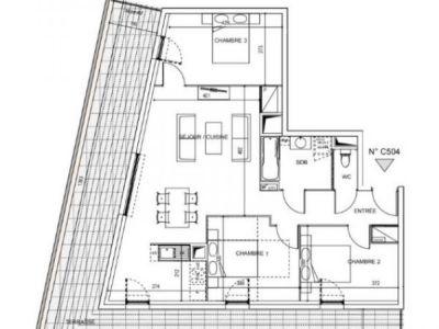 Montpellier - 4 pièce(s) - 80 m2 - 5ème étage