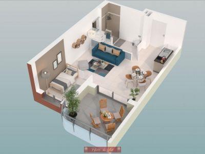 Bormes Les Mimosas - 1 pièce(s) - 32.06 m2 - 3ème étage