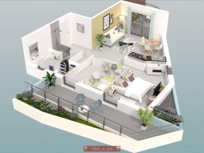 Bormes Les Mimosas - 3 pièce(s) - 53.61 m2 - 1er étage
