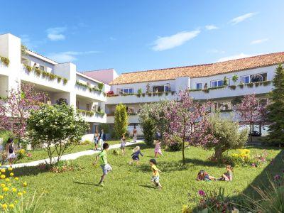 Vendargues T2 NEUF  42,50m² + Terrasse 11m² +2 Parking