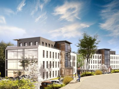 Vente en VEFA de deux immeubles de bureaux - Quimper - 2500 m2-1