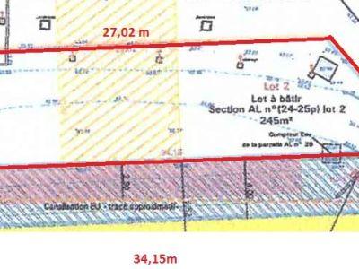 Terrain 245 m2, zone UR3, 30% emprise au sol