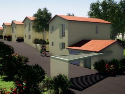 Lotissement neuf de 5 maisons à Montceaux (01)