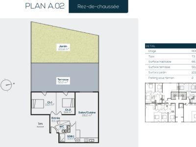 Appartement Sanary Sur Mer 3 pièce(s) 66.2 m2