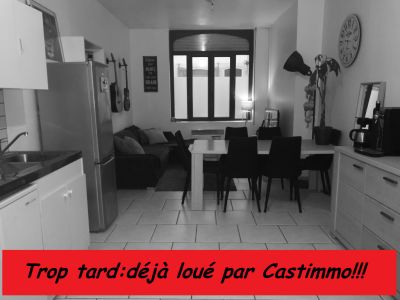 Appartement 1 chambre en rez de chaussée