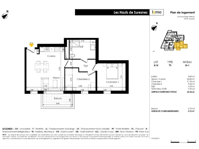 Sale apartment Suresnes 454900€ - Picture 2
