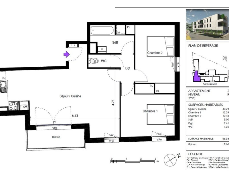 Vente appartement Toulouse 251920€ - Photo 2
