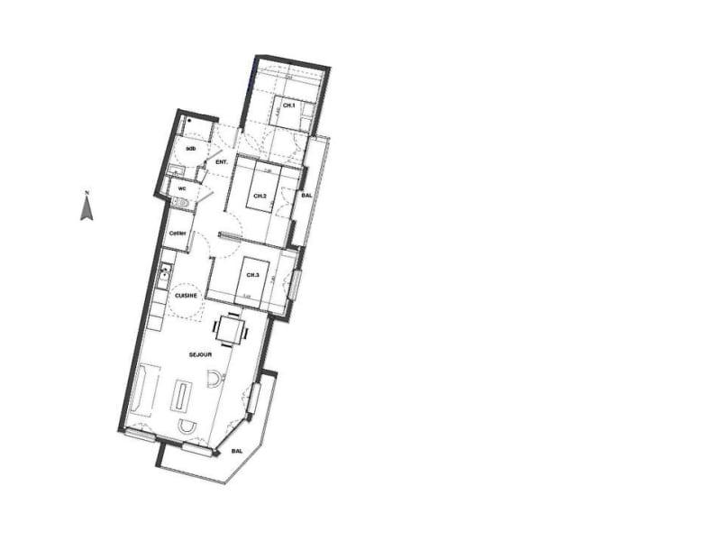 Vente appartement Rouen 261600€ - Photo 2