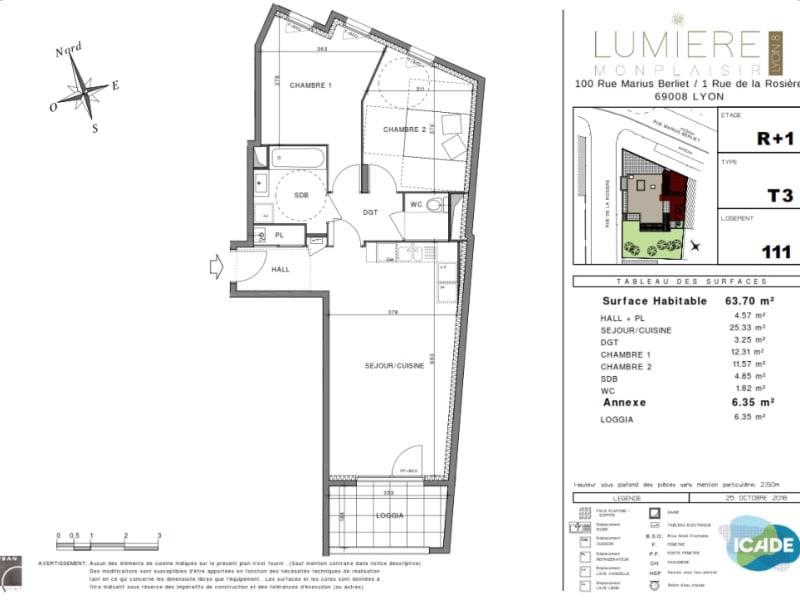 Vente appartement Lyon 8ème 401000€ - Photo 2
