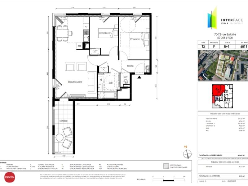 Vente appartement Lyon 8ème 385000€ - Photo 3