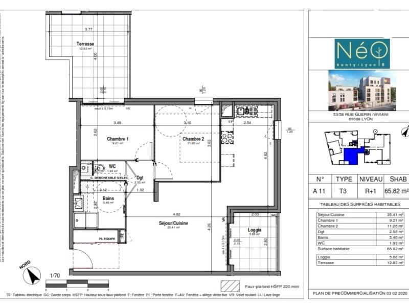 Sale apartment Lyon 8ème 332000€ - Picture 2