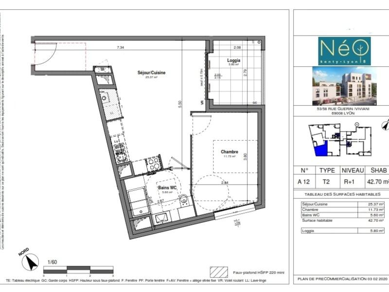 Sale apartment Lyon 8ème 263000€ - Picture 2