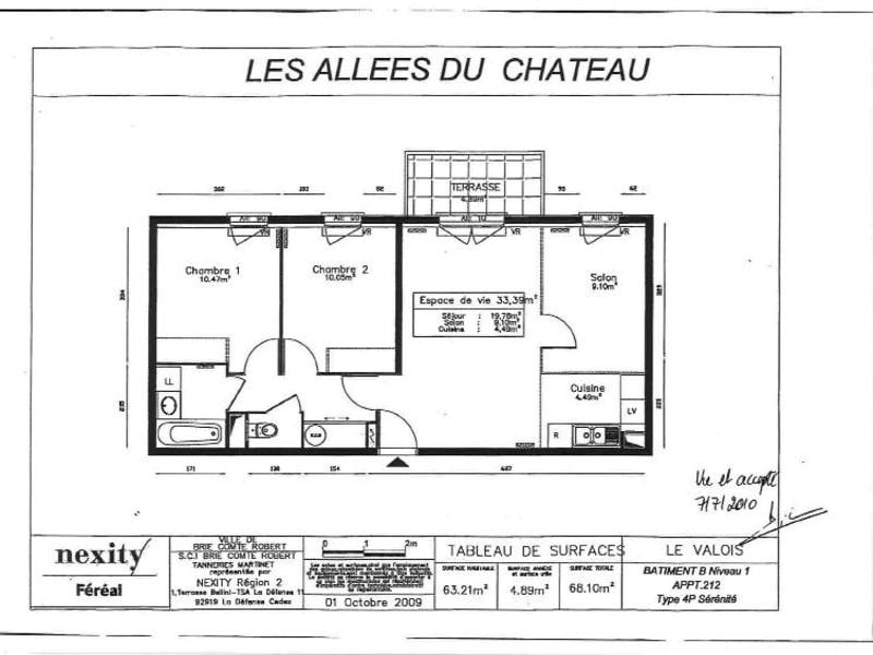 Location appartement Brie comte robert 890€ CC - Photo 1