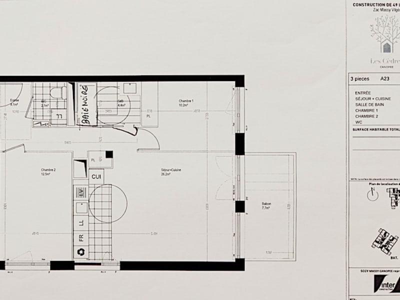 Vente appartement Massy 325000€ - Photo 3