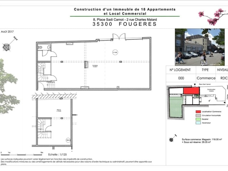 Vente local commercial Fougeres 208 000€ - Photo 2
