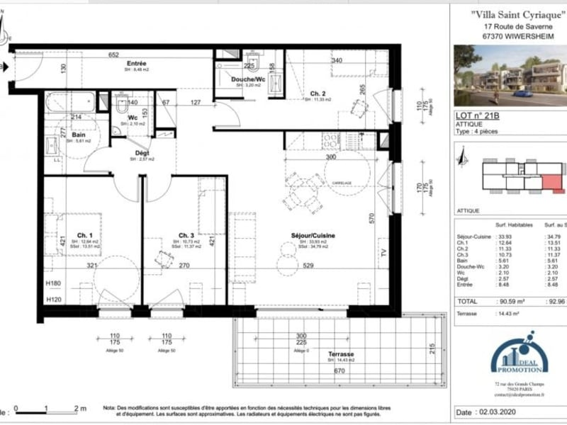 Deluxe sale apartment Wiwersheim 334950€ - Picture 3