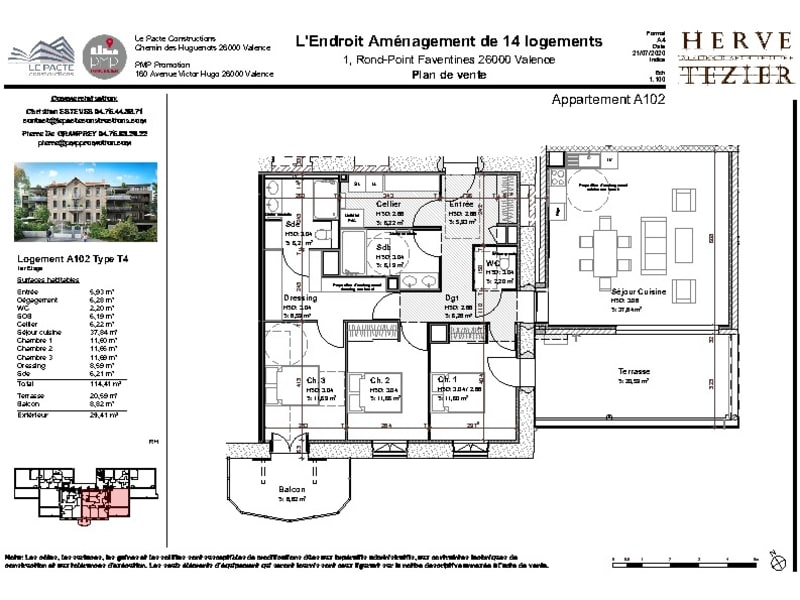 Sale apartment Valence 362000€ - Picture 3