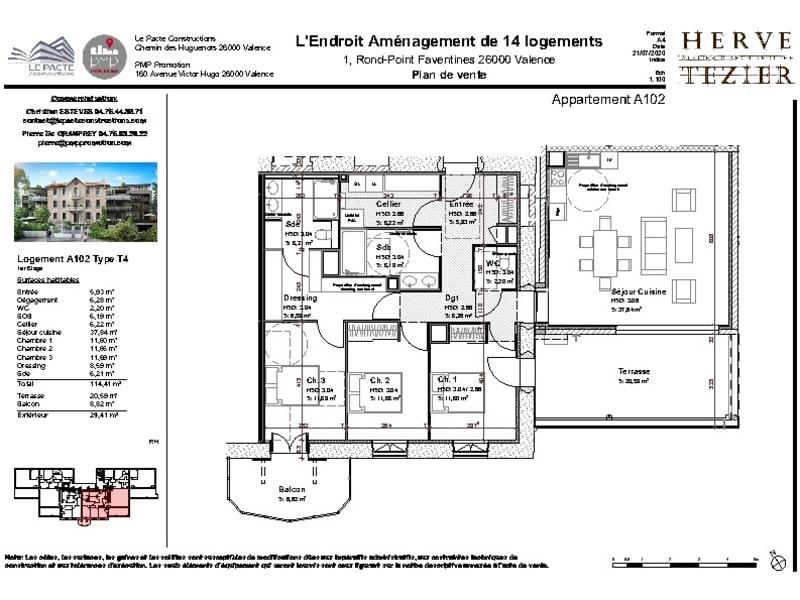 Venta  apartamento Valence 362000€ - Fotografía 3