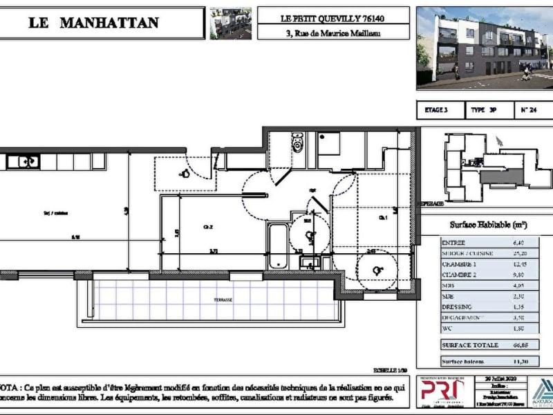Appartement Le Petit Quevilly 3 pièce(s)