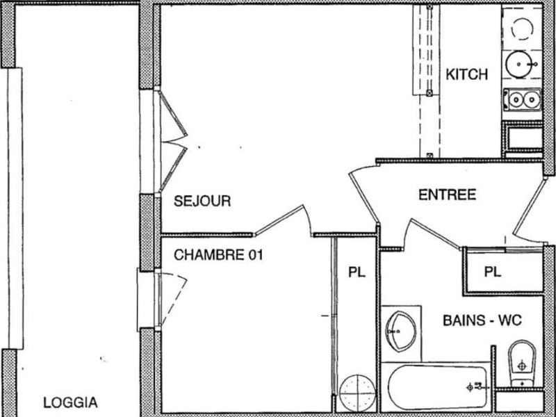 Location appartement Blagnac 512€ CC - Photo 3