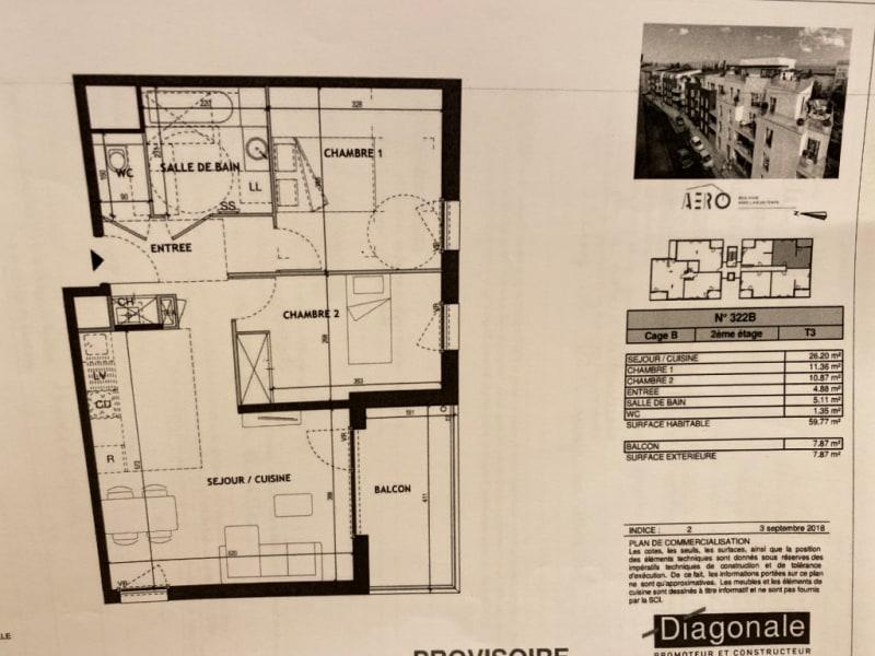 Rental apartment Villeurbanne 820€ CC - Picture 1