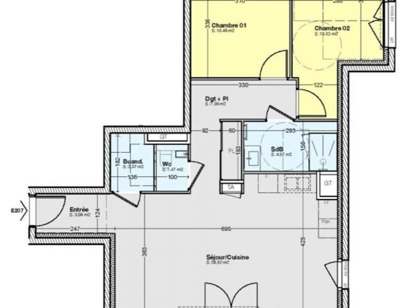 Sale apartment Gières 264500€ - Picture 2