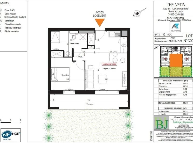Vente appartement Cornier 206000€ - Photo 2
