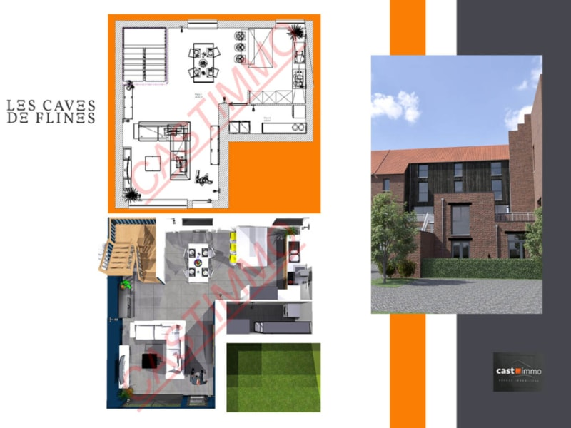 Vente appartement Flines lez raches 156000€ - Photo 1