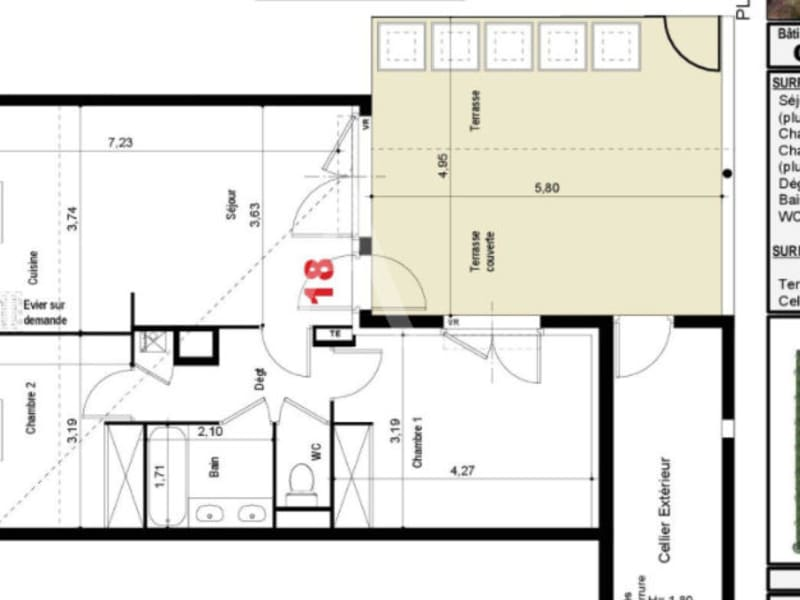 Sale apartment Tournefeuille 287000€ - Picture 2